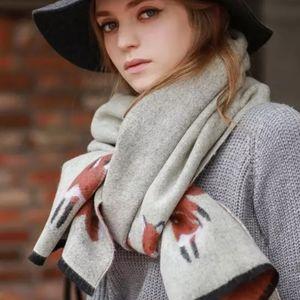 Super Soft Blanket Scarf w/ Fox 🦊 Print